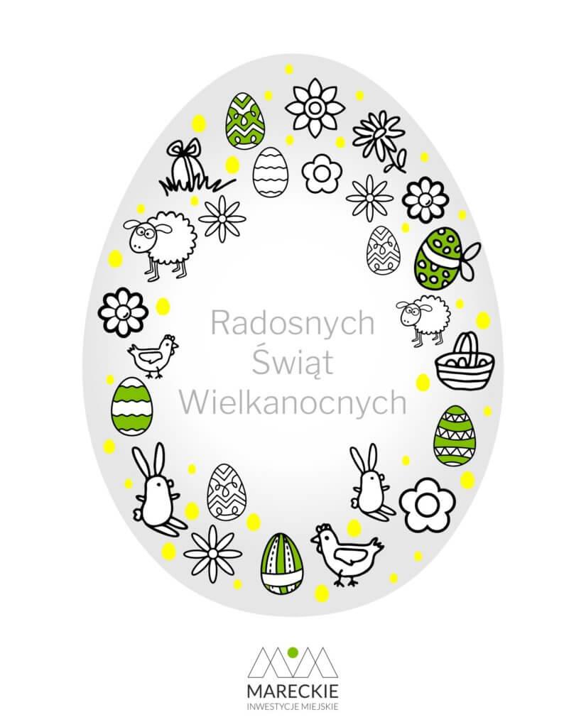 Kartka Wielkanocna z życzeniami